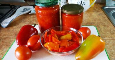 Лечо на зиму из перца и помидор — рецепт пальчики оближешь